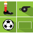Soccer icon set II vector image