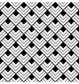 square pattern black and white vector image vector image