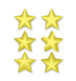 stars icon yellow color with shadow isolated on vector image