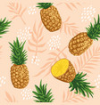 summer pattern with pineapples and tropical vector image
