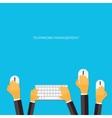 Teamwork management concept Flat icons Global vector image