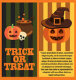 trick or treat poster and text vector image vector image