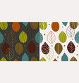 two seamless autumn scandinavian patterns vector image