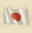 vintage flag japan vector image