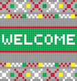 welcome pixel model vector image