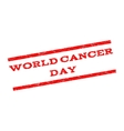 World Cancer Day Watermark Stamp vector image