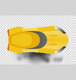 yellow sport car top view vector image vector image