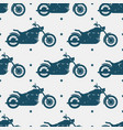 sport motorbike silhouette and seamless pattern - vector image