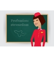 Occupation stewardess profession vector image