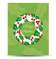 Abstract Christmas card with wreath vector image vector image
