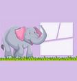 an elephant on blank template vector image