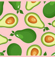 avocado print seamless pattern for textiles vector image vector image