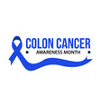 awareness month ribbon cancer vector image vector image