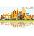 Bangalore Skyline with Color Buildings vector image vector image