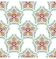 beauty pattern with floral ornament textile swatch vector image vector image