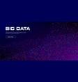 big data streams data flows vivid vector image vector image
