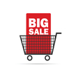 big sale icon with basket color vector image