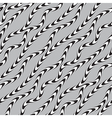 Black and White Twisted Ribbon Seamless Pattern vector image vector image