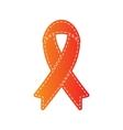 Black awareness ribbon sign Orange applique vector image vector image