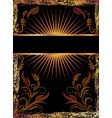 black background with copper ornament vector image vector image