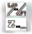 Business card design with letter Z vector image vector image