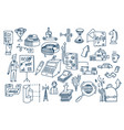 business doodles hand drawn elements and vector image vector image