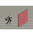 Businessman race to dead end vector image