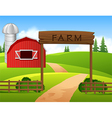 Cartoon of farm background vector image vector image