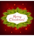 christmas shiny background vector image vector image