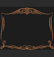 decorative gold frame decoration vector image vector image
