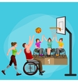 disabled athlete with prosthesis isolated concept vector image vector image