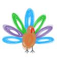 Doodle turkey vector image
