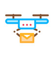 drone mail delivery postal transportation company vector image