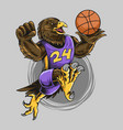 eagle wearing basketball playing ball vector image vector image