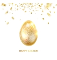 Easter egg with curves of ribbon confetti vector image