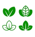 Eco Green Leaf Icon Set vector image