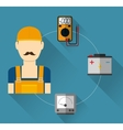 Electric technician man vector image vector image
