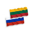 flags of lithuania tvia and russia on a white vector image