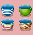 Four cups equipment vector image vector image