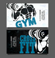 gym and fitness business card vector image vector image