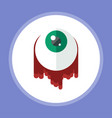 halloween eyeball icon sign symbol vector image