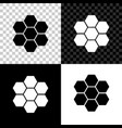 honeycomb sign icon isolated on black white and vector image vector image