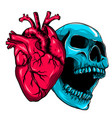 human heart icon in cartoon style real disease vector image