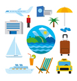 icons tropical resort vector image vector image