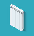isometric white heating radiator home climate vector image vector image