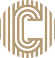 letter line c alphabet design vector image vector image