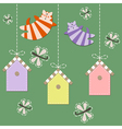 March cats fly over starling houses vector image vector image