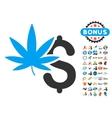 Marijuana Business Icon With 2017 Year Bonus vector image