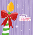merry christmas celebration decorative candle red vector image