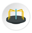 merry go round icon circle vector image vector image